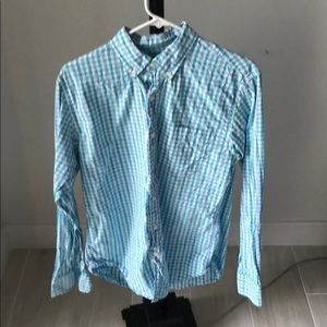 Jcrew button down in green and blue